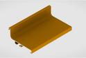 Профиль-ручка L-2025/4050 мм для верх.ящ. н/б, золото 52159/02159
