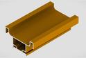 Профиль-ручка L-4500 вертикальная средняя, золото