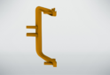 Угол наружний для профиля сред.ящ н/б, золото 02294