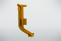 Угол внутренний для профиля верх.ящ н/б, золото 02232