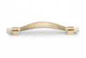 Ручка-скоба FS492 белый с золотом 128мм арт.57341