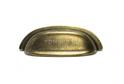 Ручка-ракушка F1912 сост. бронза 64мм арт.57351