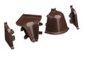 Комплект для плинтуса Rehau 118, коричневый