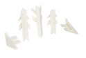 Комплект для плинтуса Rehau Perfetto-line, белый 91115