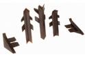Комплект для плинтуса Rehau Perfetto-line, коричневый 96125