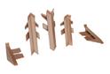 Комплект для плинтуса Rehau Perfetto-line, коричневый 96138
