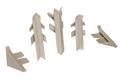 Комплект для плинтуса Rehau Perfetto-line, серый 98138