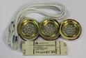 К-кт из 3-х светодиодных светильников золото арт.3320